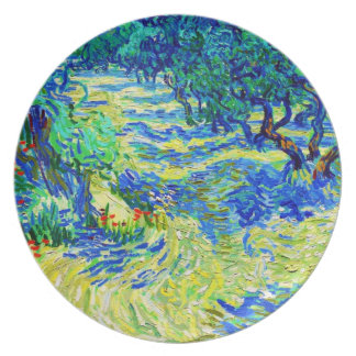 Olive Grove by Vincent Van Gogh Dinner Plate