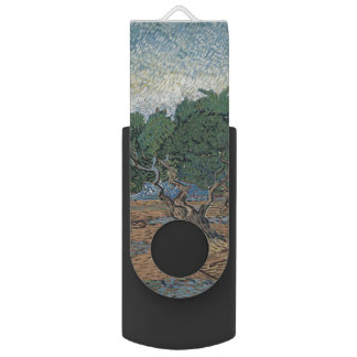 Olive Grove by Vincent Van Gogh Swivel USB 2.0 Flash Drive