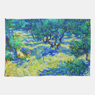 Olive Grove by Vincent Van Gogh Kitchen Towels