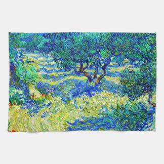 Olive Grove by Vincent Van Gogh Tea Towel