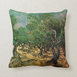 Olive Grove by Vincent van Gogh, Vintage Fine Art Cushion