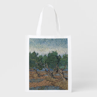 Olive Grove by Vincent Van Gogh Reusable Grocery Bags