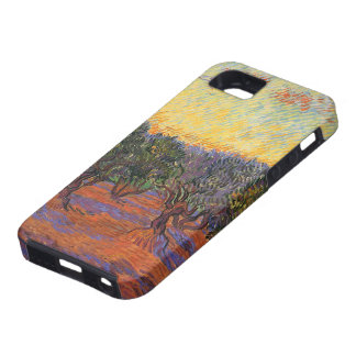 Olive Grove, Orange Sky by Vincent van Gogh iPhone 5 Case