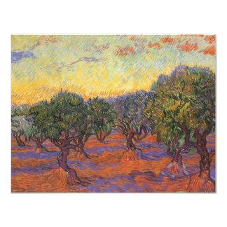 Olive Grove, Orange Sky by Vincent van Gogh Personalized Invitation