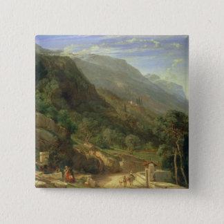 Olive Groves at Varenna, Lake Como, Italy, 1861 (o 15 Cm Square Badge