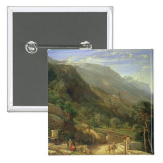 Olive Groves at Varenna, Lake Como, Italy, 1861 (o 15 Cm Square Badge