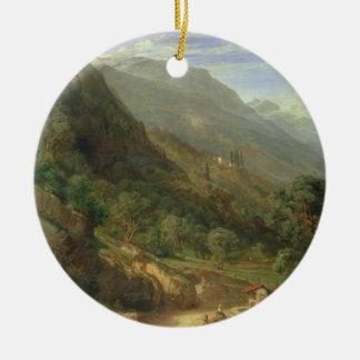 Olive Groves at Varenna, Lake Como, Italy, 1861 (o Christmas Ornament