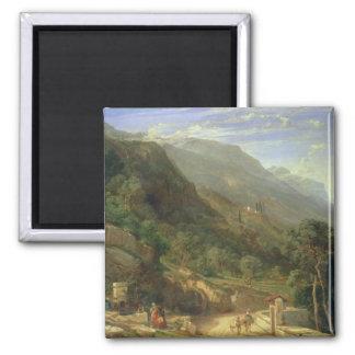 Olive Groves at Varenna, Lake Como, Italy, 1861 (o Magnet
