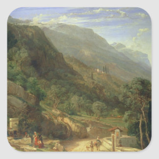 Olive Groves at Varenna, Lake Como, Italy, 1861 (o Square Sticker