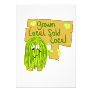 Olive grown local sold local personalized invite