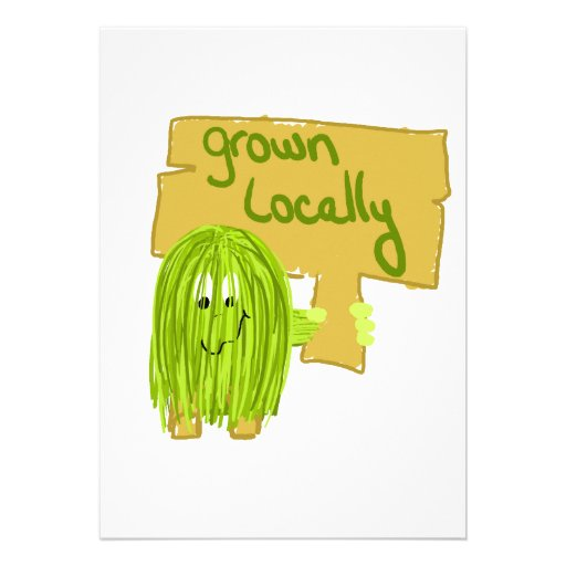 Olive grown locally custom announcements