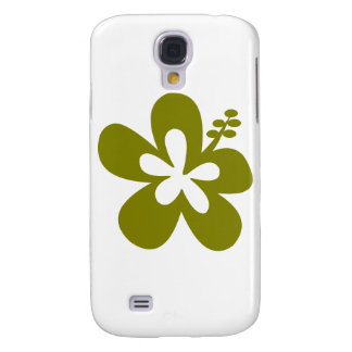 olive hibiscus aloha flower galaxy s4 cover