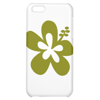 olive hibiscus aloha flower case for iPhone 5C