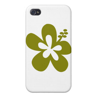 olive hibiscus aloha flower iPhone 4 case