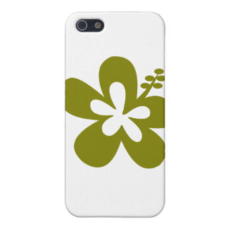 olive hibiscus aloha flower covers for iPhone 5