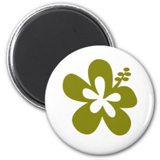 olive hibiscus aloha flower magnet