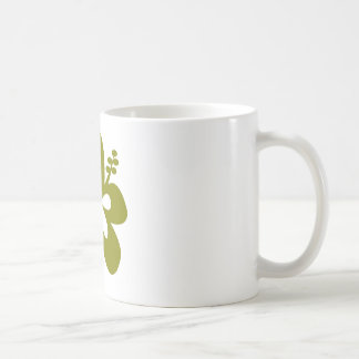 olive hibiscus aloha flower mugs