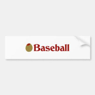 Olive (I Love) Baseball Bumper Sticker