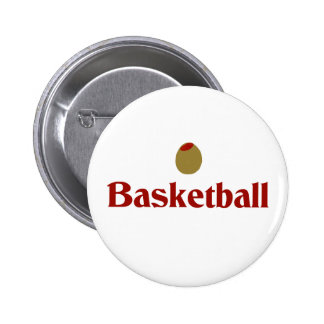 Olive (I Love) Basketball Pinback Buttons