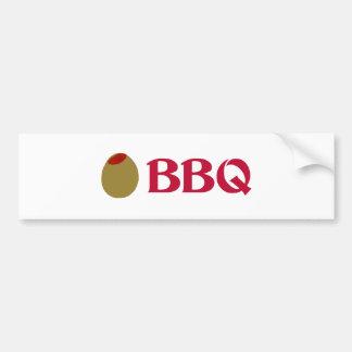 Olive (I Love) BBQ Bumper Stickers