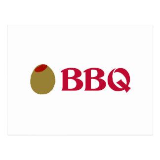 Olive (I Love) BBQ Postcard