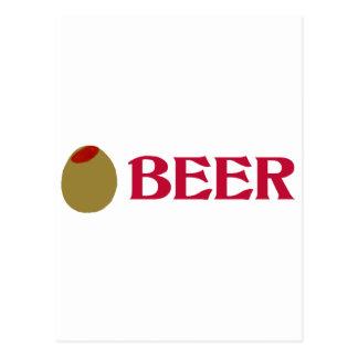 Olive (I Love) Beer Postcard