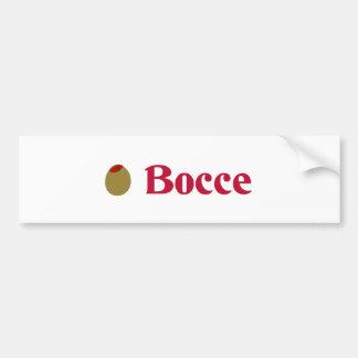 Olive (I Love) Bocce Bumper Sticker