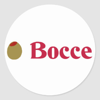 Olive (I Love) Bocce Round Sticker
