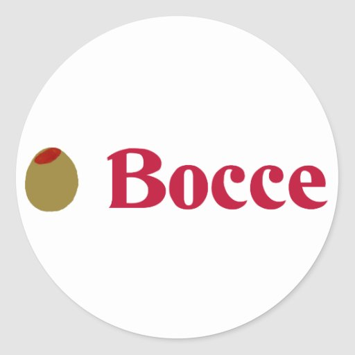 Olive (I Love) Bocce Stickers