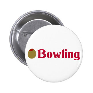 Olive (I Love) Bowling Button