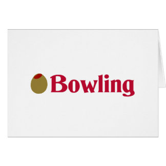 Olive (I Love) Bowling Card