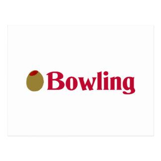 Olive (I Love) Bowling Postcard
