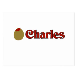 Olive (I Love) Charles Postcard