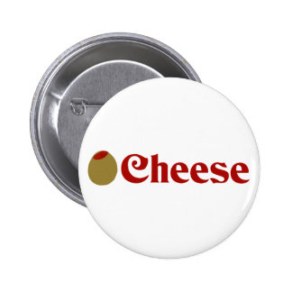 Olive (I Love) Cheese 6 Cm Round Badge