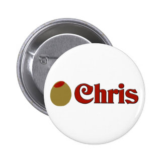 Olive (I Love) Chris Button