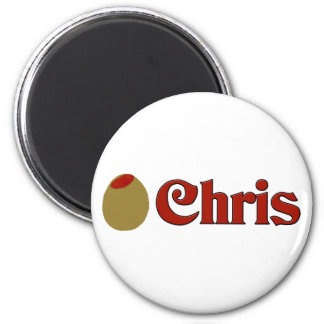 Olive (I Love) Chris Magnet