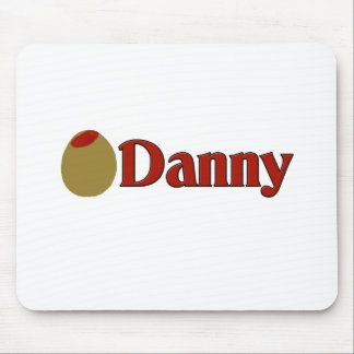 Olive I Love Danny Mouse Pad