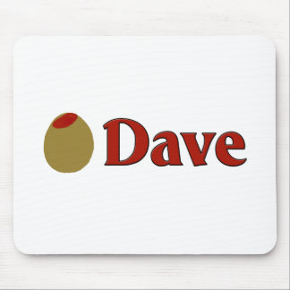 Olive I Love Dave Mousepads