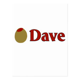 Olive (I Love) Dave Postcard