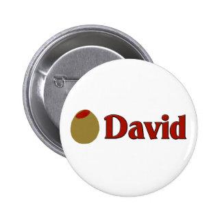 Olive (I Love) David Pinback Buttons