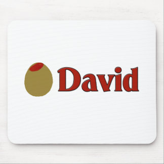 Olive (I Love) David Mouse Pad