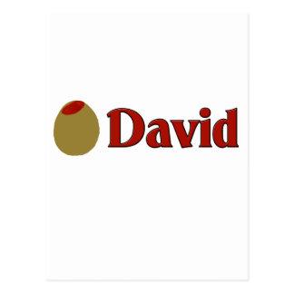 Olive (I Love) David Postcard