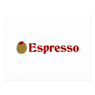 Olive (I Love) Espresso Postcard