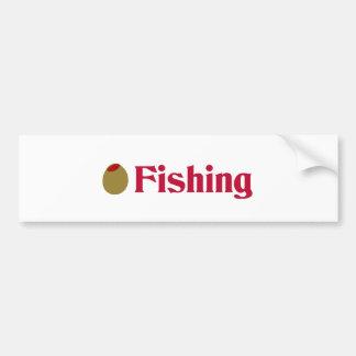 Olive (I Love) Fishing Bumper Sticker
