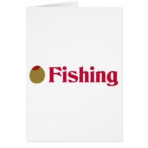 Olive (I Love) Fishing Card