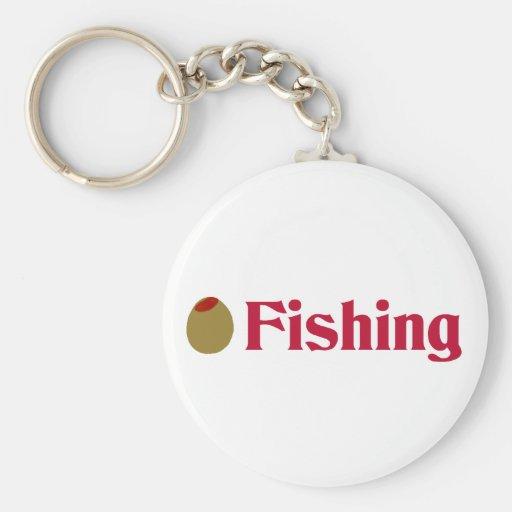 Olive (I Love) Fishing Keychains