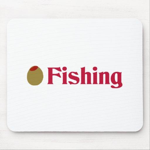Olive (I Love) Fishing Mousepads