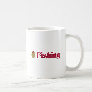 Olive (I Love) Fishing Coffee Mugs