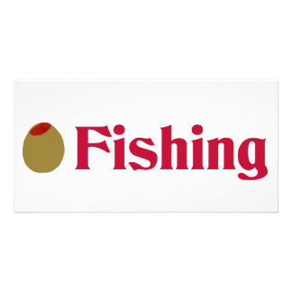 Olive (I Love) Fishing Photo Greeting Card