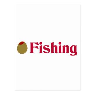 Olive (I Love) Fishing Postcard